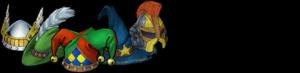 Vier Helden und ein Schelm Logo